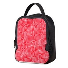 Strawberry Pixel Mosaic Neoprene Lunch Bag