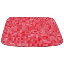 Strawberry Pixel Mosaic Bathmat