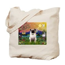 Fantasy Land with Fawn Pug Tote Bag