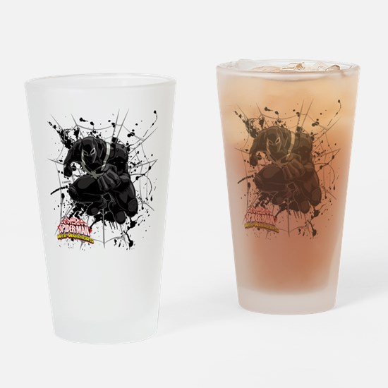 Agent Venom Web Drinking Glass