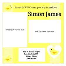 Yellow Duck Baby Announcement Card Invitations