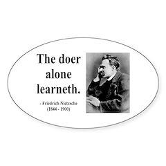 Nietzsche 14 Oval Decal