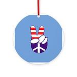 Patriotic Peace Hand Ornament