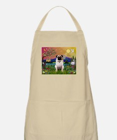 Fantasy Land with Fawn Pug BBQ Apron