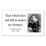 Nietzsche 13 Rectangle Sticker
