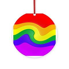 Rainbow Swirl Ornament