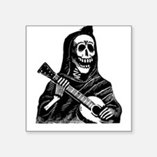 """Cute Music skeletons Square Sticker 3"""" x 3"""""""