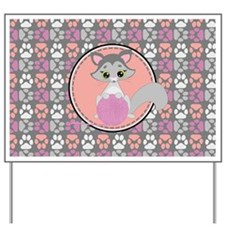 Ragdoll Cat and Paws Pattern Yard Sign