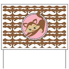 Cute Ragdoll Cat Mustache Yard Sign