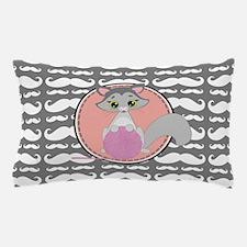 Cute Ragdoll Cat Mustache Pillow Case