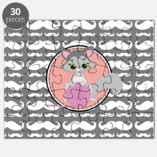 Cute Ragdoll Cat Mustache Puzzle