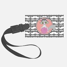 Cute Ragdoll Cat Mustache Luggage Tag