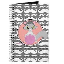 Cute Ragdoll Cat Mustache Journal
