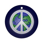 Peace Sign and Earth (Holiday Ornament)