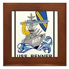 DD-807 USS BENNER Destroyer Ship Milit Framed Tile