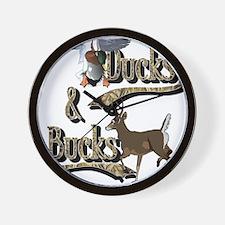 Ducks & Bucks Wall Clock