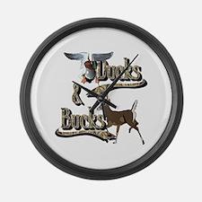 Ducks & Bucks Large Wall Clock