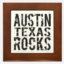AUSTIN TEXAS ROCKS Framed Tile