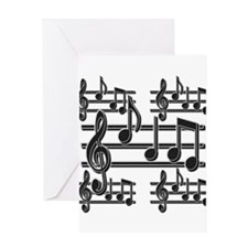 Musical Note Design Greeting Card