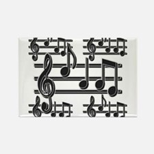 Musical Note Design Rectangle Magnet