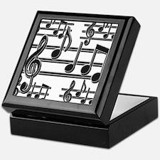 Musical Note Design Keepsake Box