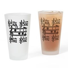 Musical Note Design Drinking Glass