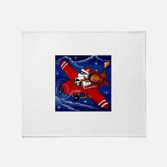 Pembroke Welsh Corgi Christmasthrow Blanket