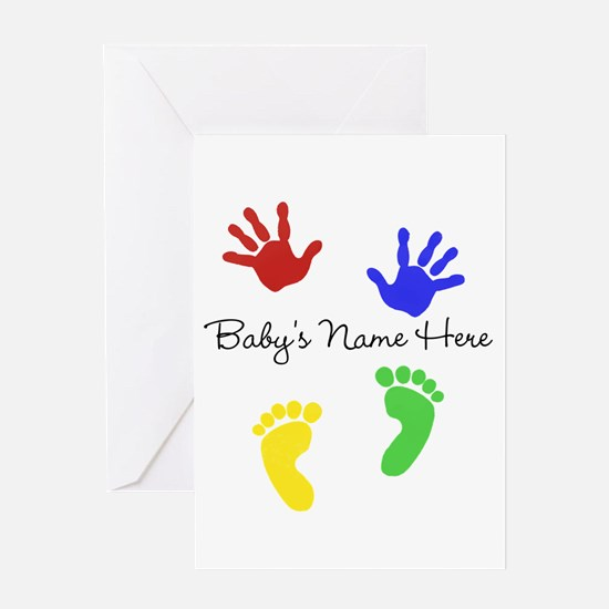 Babys Name Here Cute Design Greeting Cards