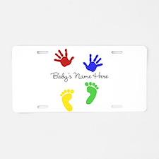 Babys Name Here Cute Design Aluminum License Plate