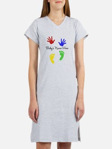 Babys Name Here Cute Design Women's Nightshirt