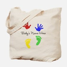 Babys Name Here Cute Design Tote Bag