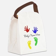 Babys Name Here Cute Design Canvas Lunch Bag