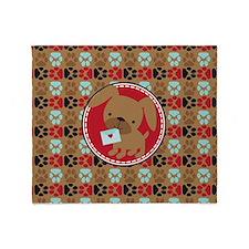 Pawprint Puppy Pattern Throw Blanket