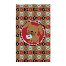 Pawprint Puppy Pattern 3'x5' Area Rug