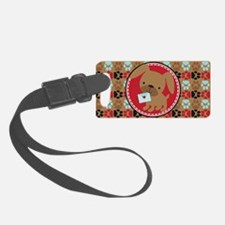 Pawprint Puppy Pattern Luggage Tag