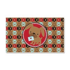 Pawprint Puppy Pattern Car Magnet 20 x 12