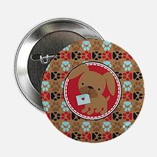 "Pawprint Puppy Pattern 2.25"" Button (10 pack)"