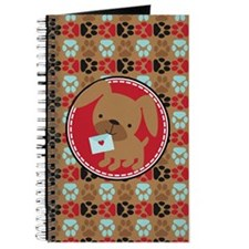 Pawprint Puppy Pattern Journal