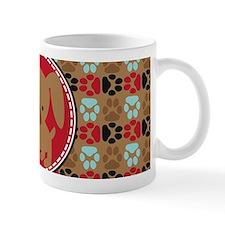 Pawprint Puppy Pattern Small Mug