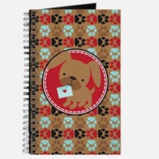 Pawprint Puppy Pattern Journal
