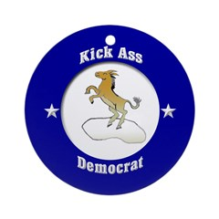 Kick-Ass Democrat (Christmas Ornament)