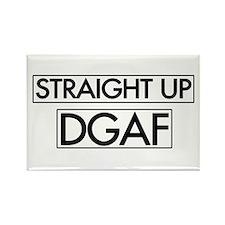 Straight Up DGAF Rectangle Magnet