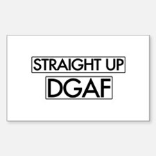 Straight Up DGAF Decal