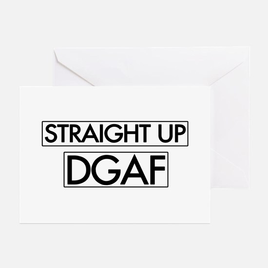 Straight Up DGAF Greeting Cards (Pk of 20)
