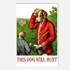THIS DOG WILL HUNT Postcards (Package of 8)