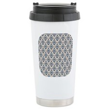 Monaco Blue & Linen Dam Travel Mug