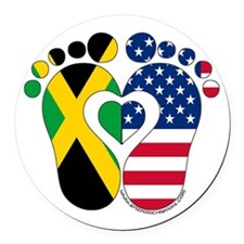 Jamaican American Baby Round Car Magnet