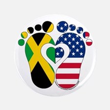 """Jamaican American Baby 3.5"""" Button"""