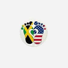 Jamaican American Baby Mini Button