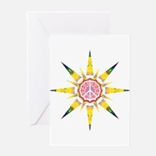Solar Peace - Omm Greeting Card